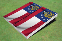 Georgia State Flag Custom Cornhole Board