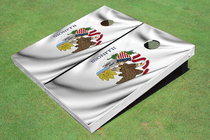Illinois State Flag Custom Cornhole Board