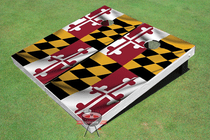 Maryland State Flag Custom Cornhole Board