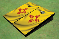 Mexico State Flag Custom Cornhole Board