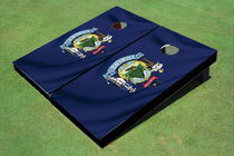 Maine State Flag Custom Cornhole Board