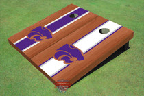 Kansas State University Wildcats Rosewood Alternating Long Stripe Custom Cornhole Board