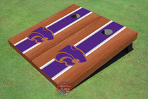 Kansas State University Wildcats Purple Rosewood Matching Long Strip Custom Cornhole Board