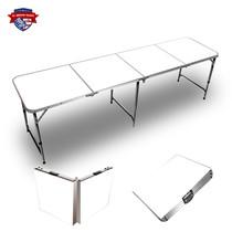 Plain White 8ft Tailgate Table