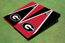 "University Of Georgia ""G"" Alternating Triangle Cornhole Boards"