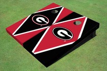 "University Of Georgia ""G"" Alternating Diamond Cornhole Boards"