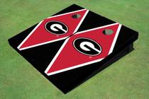 "University Of Georgia ""G"" Red And Black Matching Diamond Custom Cornhole Board"
