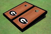 "University Of Georgia ""G"" Black Rosewood Matching Borders Cornhole Boards"