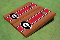 "University Of Georgia ""G"" Red Rosewood Matching Long Strip Cornhole Boards"