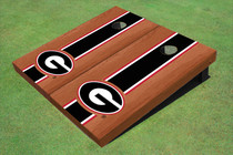 "University Of Georgia ""G"" Black Rosewood Matching Long Stripe Custom Cornhole Board"