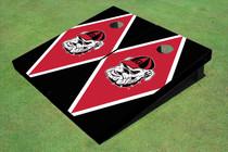 "University Of Georgia ""Hairy Dawg"" Red And Black Matching Diamond Cornhole Boards"