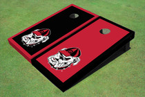 "University Of Georgia ""Hairy Dawg"" Alternating Border Cornhole Boards"