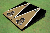 "University Of Central Florida ""Knightro"" Gold And Black Matching Triangle Custom Cornhole Board"