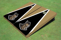 "University Of Central Florida ""Knightro"" Black And Gold Matching Triangle Custom Cornhole Board"