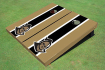 "University Of Central Florida ""Knightro"" Black And Gold Matching Long Stripe Custom Cornhole Board"