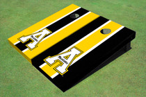 "Appalachian State University ""A"" Alternating Long Stripe Custom Cornhole Board"