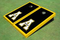 """Appalachian State University """"A"""" Yellow Matching Border Custom Cornhole Board"""