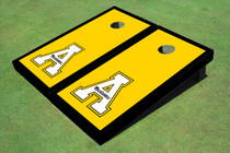 "Appalachian State University ""A"" Black Matching Border Custom Cornhole Board"