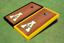 "Appalachian State University ""A"" Rosewood Alternating Border Cornhole Boards"