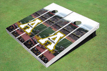"Appalachian State University ""A"" Stadium Long Strip Themed Cornhole Boards"