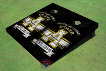 "Appalachian State University EST ""A"" Black Solid Cornhole Boards"
