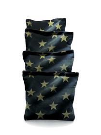 4 American Flag Stars Grunge Cornhole Bags