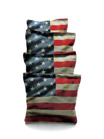 4 American Flag Cornhole Bags