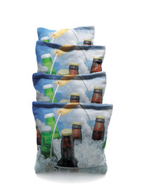 4 Beer Bucket # 2 Custom Cornhole Bags