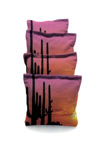 4 Cactus SunSet Cornhole Bags