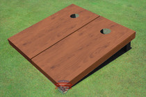 Rosewood Stained Solid Border Custom Cornhole Board