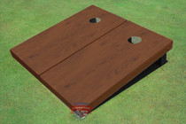 Walnut Stained Solid Border Custom Cornhole Board
