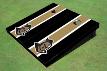 "University Of Central Florida ""Knightro"" Gold And Black Matching Long Stripe Custom Cornhole Board"