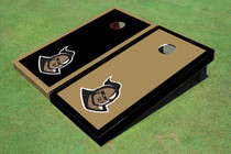 "University Of Central Florida ""Knightro"" Gold And Black Alternating Borders Custom Cornhole Board"