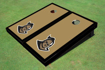 "University Of Central Florida ""Knightro"" Gold And Black Matching Borders Custom Cornhole Board"