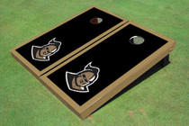"University Of Central Florida ""Knightro"" Black And Gold Matching Borders Custom Cornhole Board"