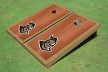 "University Of Central Florida ""Knightro"" Rosewood Gold Matching Borders Custom Cornhole Board"