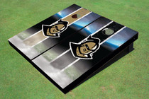 "University Of Central Florida ""Knightro"" Alternating Field Long Stripe Custom Cornhole Board"