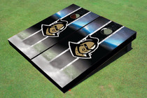 "University Of Central Florida ""Knightro"" Black Field Long Stripe Custom Cornhole Board"