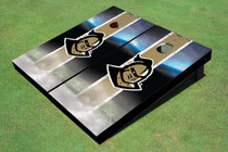 "University Of Central Florida ""Knightro"" Gold Field Long Stripe Custom Cornhole Board"