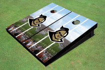 "University Of Central Florida ""Knightro"" Stadium Long Stripe Custom Cornhole Board"