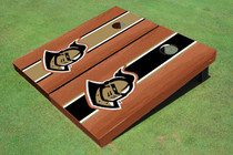 "University Of Central Florida ""Knightro"" Rosewood Alternating Long Stripe Custom Cornhole Board"