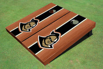 "University Of Central Florida ""Knightro"" Rosewood Black Matching Long Stripe Custom Cornhole Board"