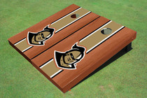 "University Of Central Florida ""Knightro"" Rosewood Gold Matching Long Stripe Custom Cornhole Board"