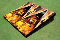 Custom Corn Hole Fire fighter #3 Graphic Cornhole Board Set