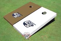 Georgia Southern University Alternating Solid Custom Cornhole Board