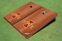 "Iowa State University ""I"" Solid Rosewood Cornhole Boards"