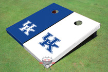University Of Kentucky Alternating Solid Custom Cornhole Board