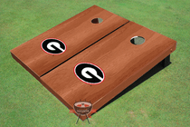 "University Of Georgia ""G"" Solid Rosewood Cornhole Boards"