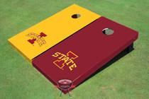 "Iowa State University ""I"" Alternating Solid Custom Cornhole Board"