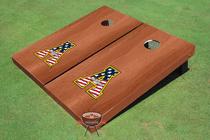 "Appalachian State University ""A"" Solid Rosewood Custom Cornhole Board"